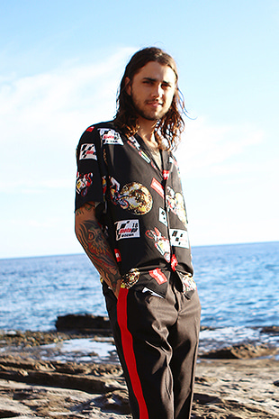 MOTORBIKE HAWAIIAN SHIRT_BLACK