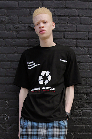GOZER RECYCLE HALF T-SHIRT_BLACK