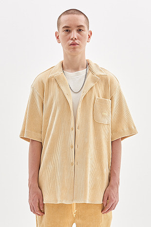 CORDUROY HALF SHIRT_LEMON