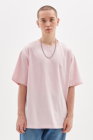 BOX LOGO EMBROIDERED T-SHIRT_PINK