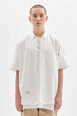 OXFORD HALF SHIRT CLASSIC OVER VERSION_IVORY
