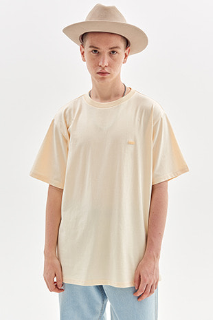 BOX LOGO EMBROIDERED T-SHIRT_LIGHT YELLOW