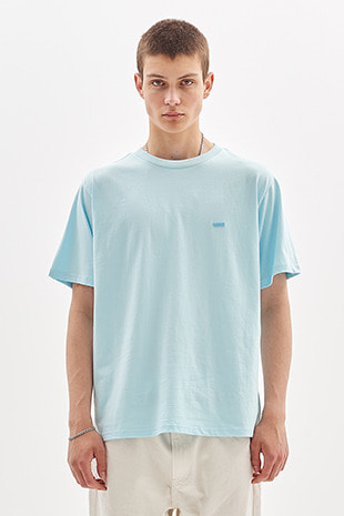 BOX LOGO EMBROIDERED T-SHIRT_SKY BLUE