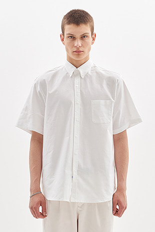 SNAP BUTTON OXFORD HALF SHIRT