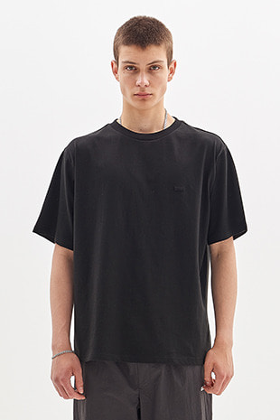 BOX LOGO EMBROIDERED T-SHIRT_BLACK