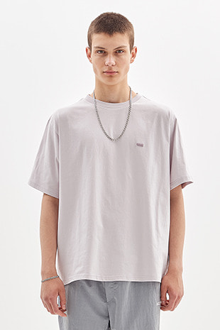 BOX LOGO EMBROIDERED T-SHIRT_GREY