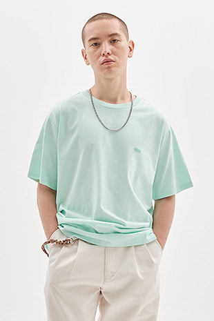 BOX LOGO EMBROIDERED T-SHIRT_ICE MINT