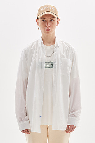 WIND BREAKER SHIRT_WHITE