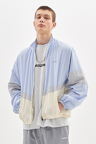 ZIP UP TRACK JACKET_LIGHT SKY&IVORY