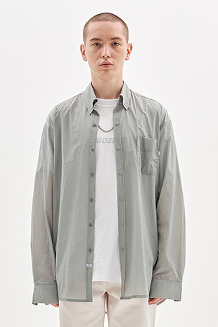 WIND BREAKER SHIRT_GREY